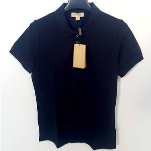 Burberry London England Women Navy Polo Shirt